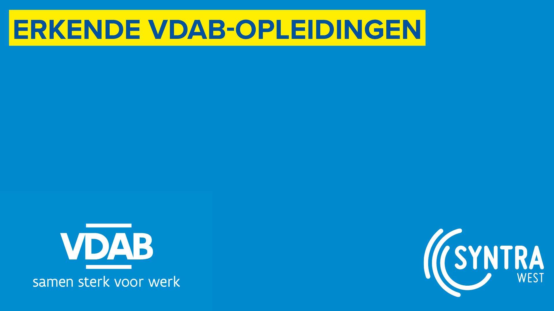 VDAB erkende opleidingen